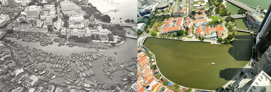 Singapore River - Straits Times (Then & Now)