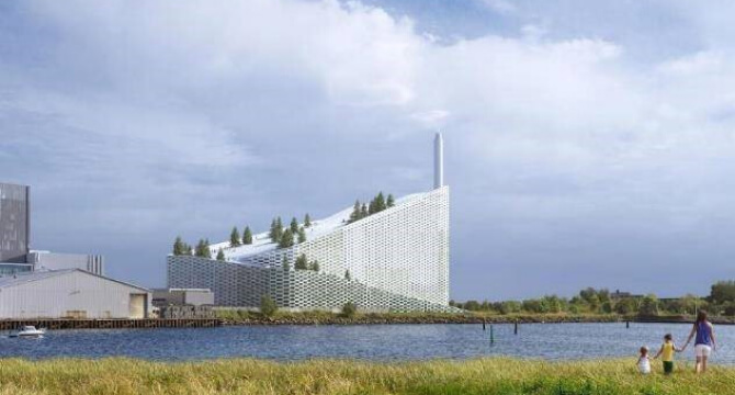 Amager Bakke a 2 x 1000 tonne per day WTE plant in Copenhagen which doubles as a ski slope